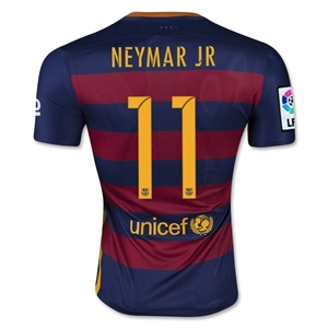 Barcelona 15/16 NEYMAR JR Authentic Home Soccer Jersey