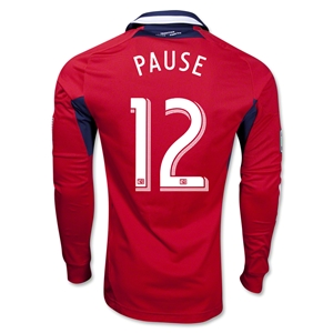 Chicago Fire 2013 PAUSE LS Authentic Primary Soccer Jersey