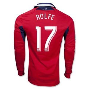 Chicago Fire 2013 ROLFE Authentic LS Primary Soccer Jersey