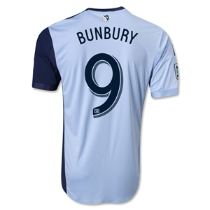 Sporting KC 2013 BUNBURY Authentic Primary Soccer Jersey