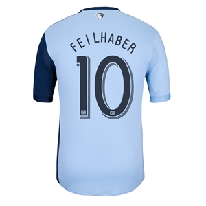 Sporting KC 2014 FEILHABER Authentic Primary Soccer Jersey