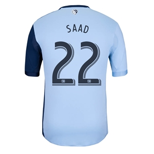 Sporting KC 2014 SAAD Authentic Primary Soccer Jersey