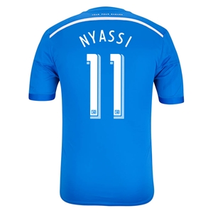 Montreal Impact 2014 NYASSI Authentic Primary Soccer Jersey