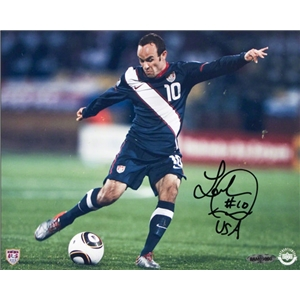 Upper Deck Landon Donovan Autographed Team USA The Shot