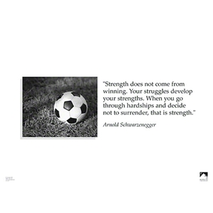 Strength Soccer Poster
