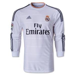 Real Madrid 13/14 LS Home Soccer Jersey