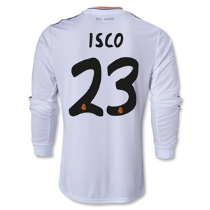 Real Madrid 13/14 ISCO LS Home Soccer Jersey