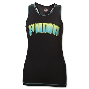 PUMA Women's Performance Racerback Tank (Blk/Green)
