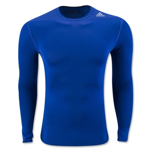 adidas Base TechFit Compression Long Sleeve T-Shirt (Royal)