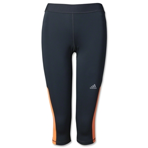 adidas Women's TechFit Capri Tight (Blk/Orange)