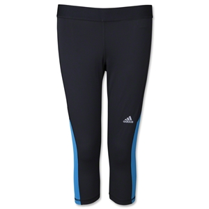 adidas Women's TechFit Capri Tight (Black/Red)