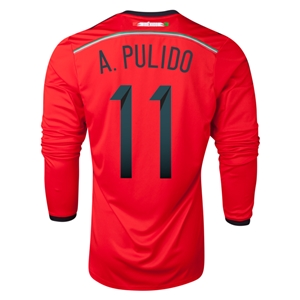 Mexico 2014 A PULIDO LS Away Soccer Jersey