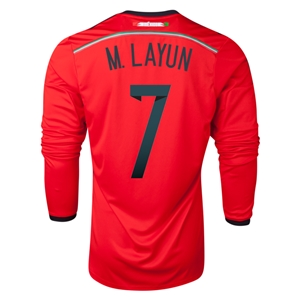 Mexico 2014 M LAYUN LS Away Soccer Jersey