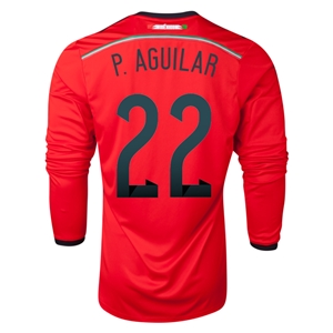 Mexico 2014 P AGUILAR LS Away Soccer Jersey