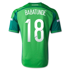 Nigeria 14/15 BABATUNDE Home Soccer Jersey