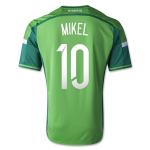 Nigeria 2014 MIKEL Home Soccer Jersey