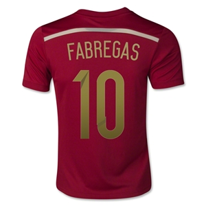 Spain 2014 FABREGAS Youth Home Soccer Jersey