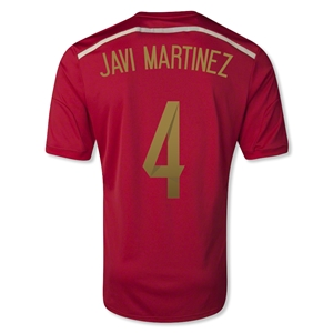 Spain 2014 JAVI MARTINEZ Home Soccer Jersey