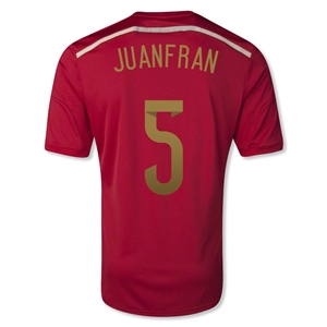 Spain 2014 JUANFRAN 5 Home Soccer Jersey
