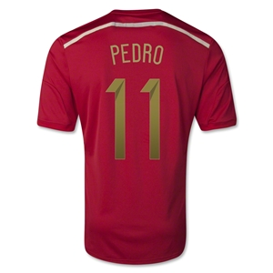 Spain 2014 PEDRO Home Soccer Jersey