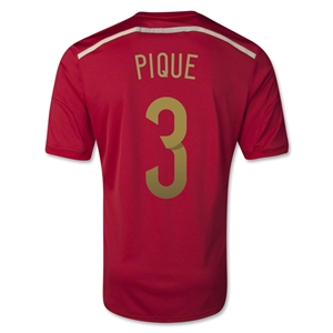 Spain 2014 PIQUE Home Soccer Jersey