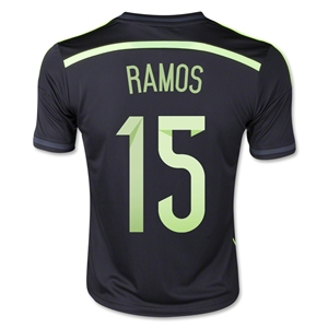Spain 2014 RAMOS Youth Away Soccer Jersey