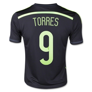 Spain 2014 TORRES Youth Away Soccer Jersey