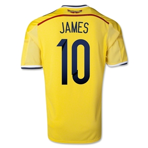 Colombia 2014 JAMES Home Soccer Jersey