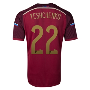 Russia 14/15 YESHCHENKO Home Soccer Jersey