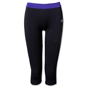 adidas Women's TechFit Three Quarter Tight (Blk/Pur)