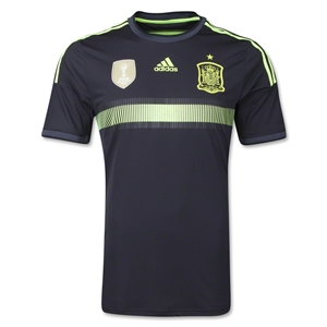 Spain 2014 Authentic Away Soccer Jersey