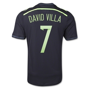 Spain 2014 DAVID VILLA Authentic Away Soccer Jersey