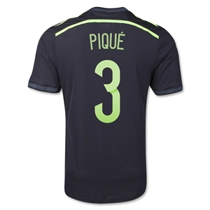 Spain 2014 PIQUE Authentic Away Soccer Jersey
