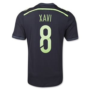 Spain 2014 XAVI Authentic Away Soccer Jersey