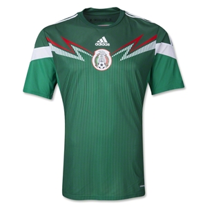 Mexico 2014 Authentic Home Soccer Jersey