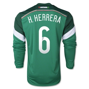 Mexico 2014 H HERRERA LS Home Soccer Jersey