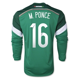 Mexico 2014 M PONCE LS Home Soccer Jersey