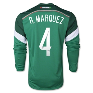 Mexico 2014 R. MARQUEZ LS Home Soccer Jersey