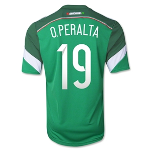 Mexico 2014 O. PERALTA Youth Home Soccer Jersey