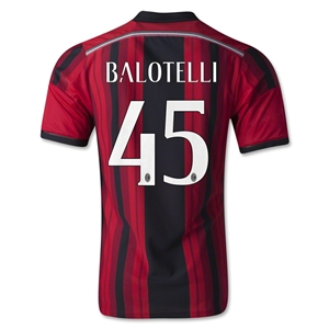 AC Milan 14/15 BALOTELLI Authentic Home Soccer Jersey