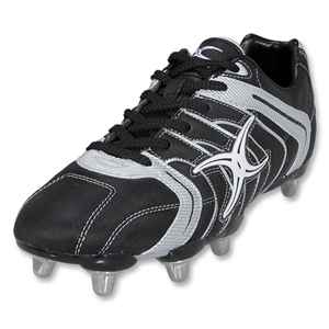 Gilbert Mercury 8S SG Rugby Boot (Silver/Black)