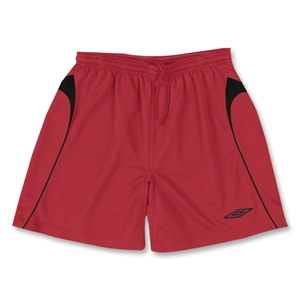 Umbro Forest Soccer Shorts (Red/Blk)