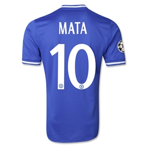 Chelsea 13/14 MATA Authentic UCL Home Soccer Jersey