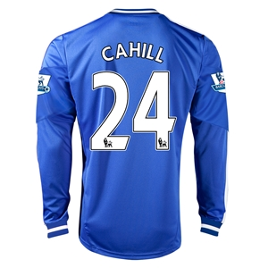 Chelsea 13/14 24 CAHILL LS Home Soccer Jersey