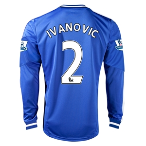 Chelsea 13/14  2 IVANOVIC LS Home Soccer Jersey