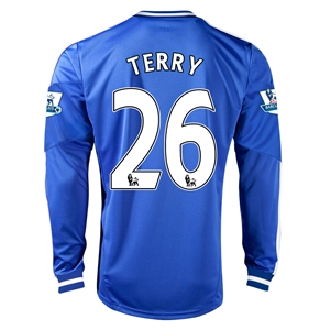 Chelsea 13/14 26 TERRY LS Home Soccer Jersey