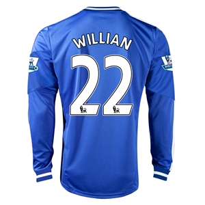 Chelsea 13/14 WILLIAN LS Home Soccer Jersey