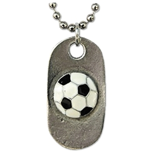 Soccer Ball Dog Tag