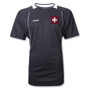 Switzerland Palermo Soccer Jersey (Black)