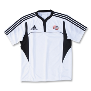 adidas Las Vegas Invitational Three Stripe II Rugby Jersey (White/Black)